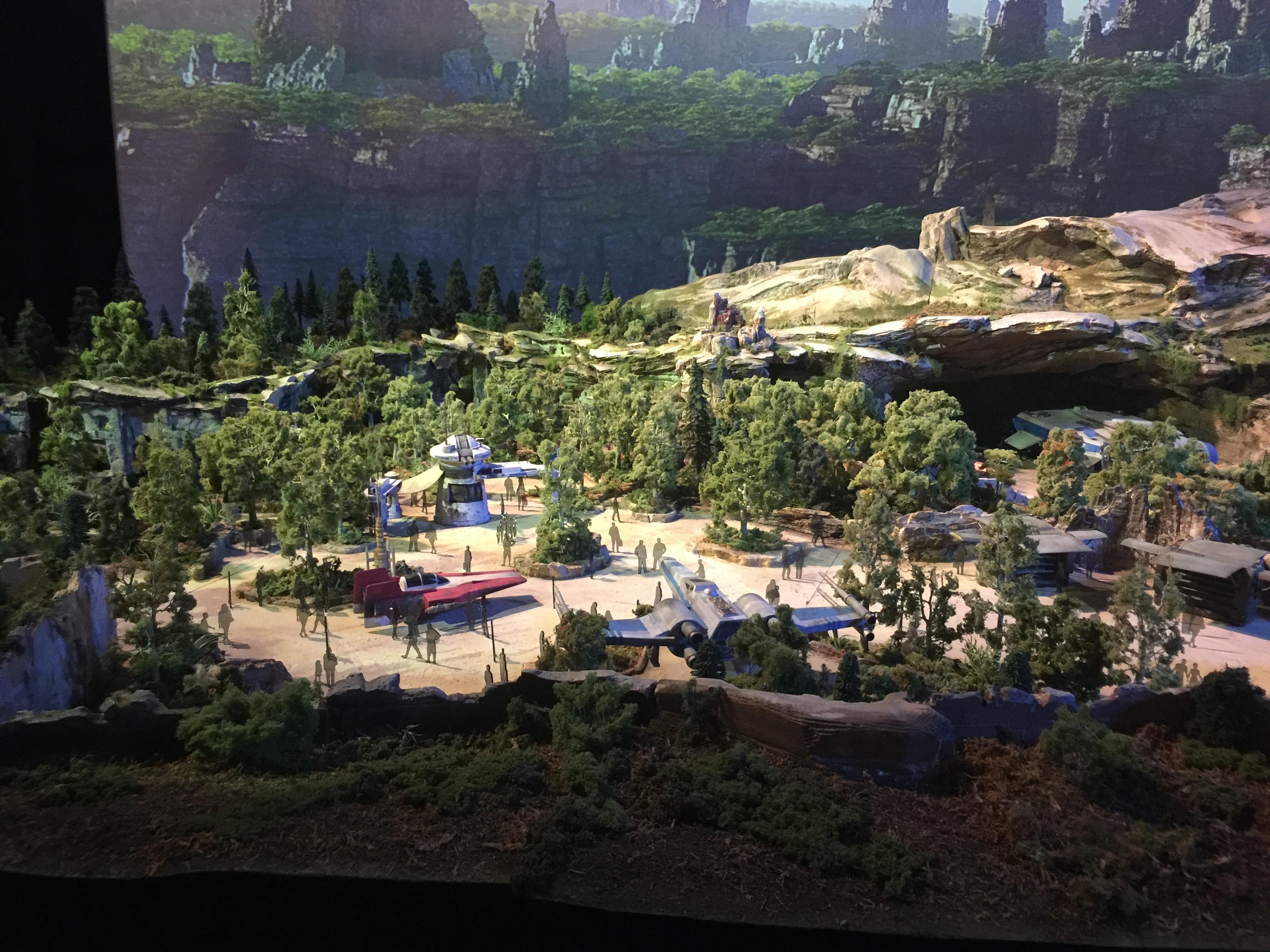 Maquette de Star Wars Land à D23 Expo