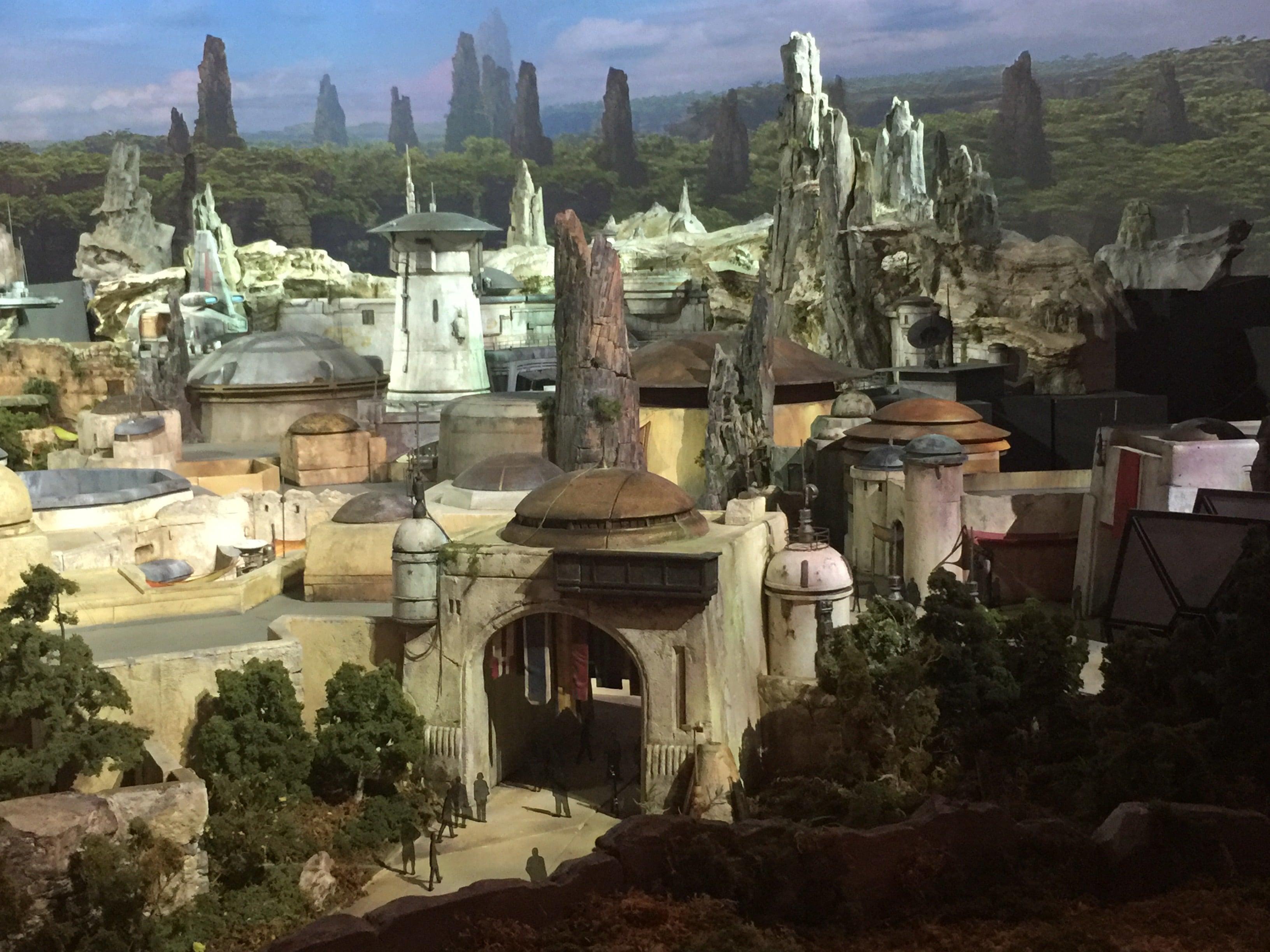 Maquette de Star Wars : Galaxy's Edge à D23 Expo