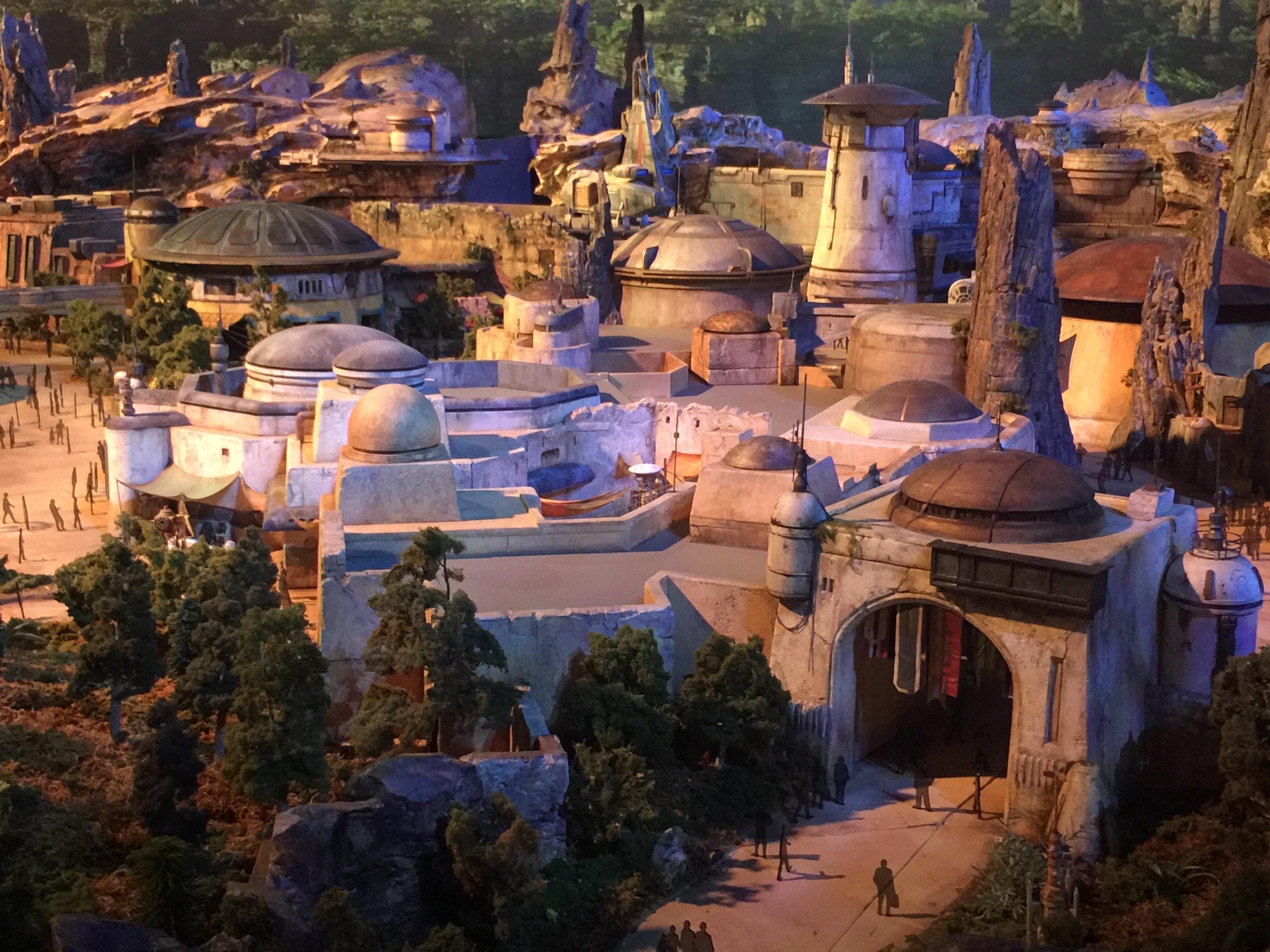 Maquette de Star Wars : Galaxy's Edge de Disney's Hollywood Studios