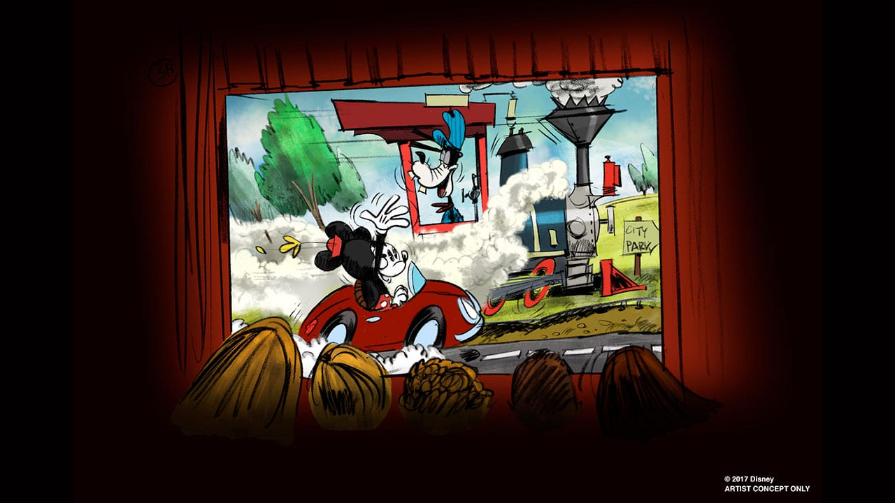 Mickey and Minnie Runaway Railway Concept D23 Expo
