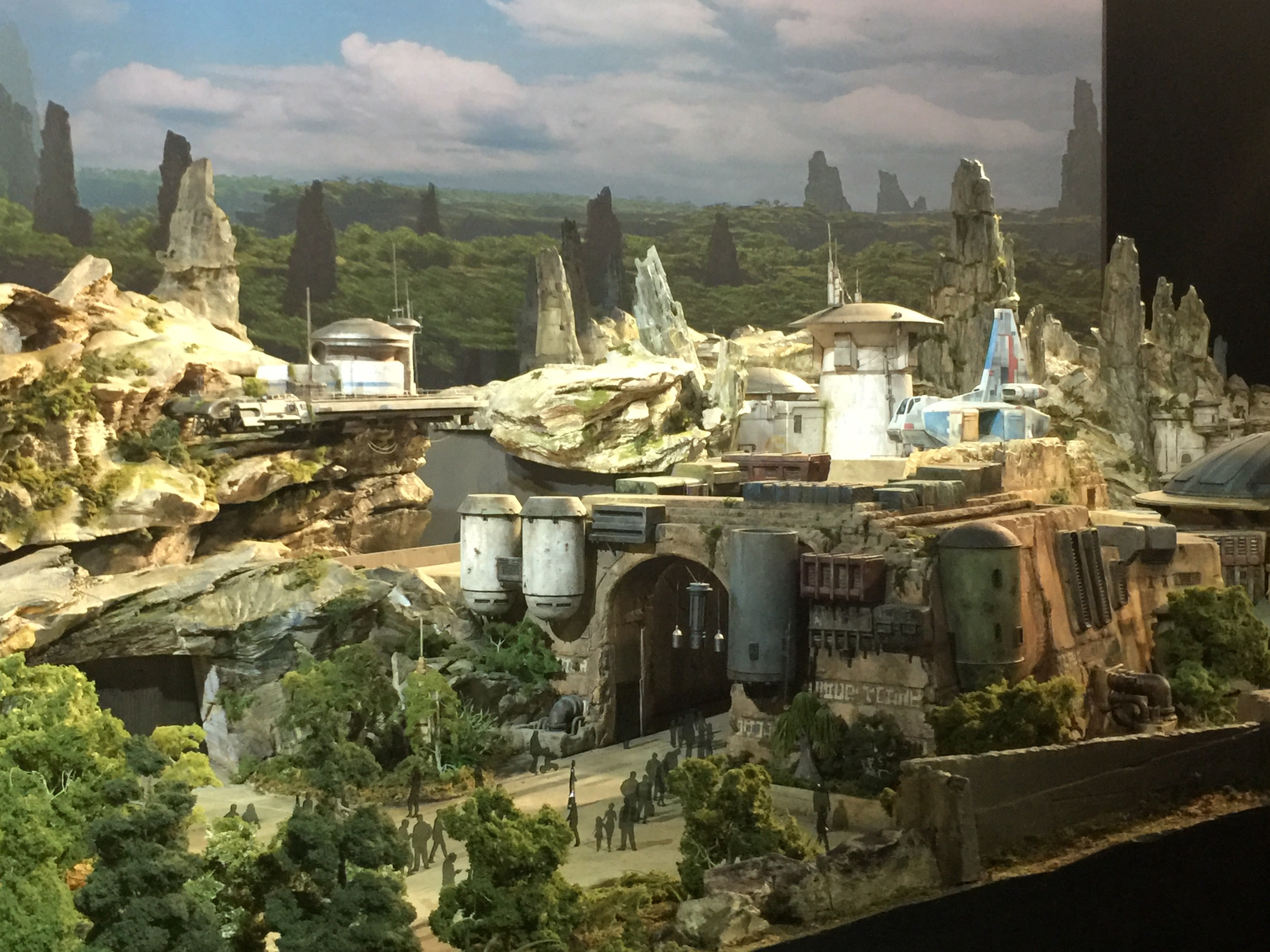 Maquette de Star Wars : Galaxy's Edge pour Disneyland Resort