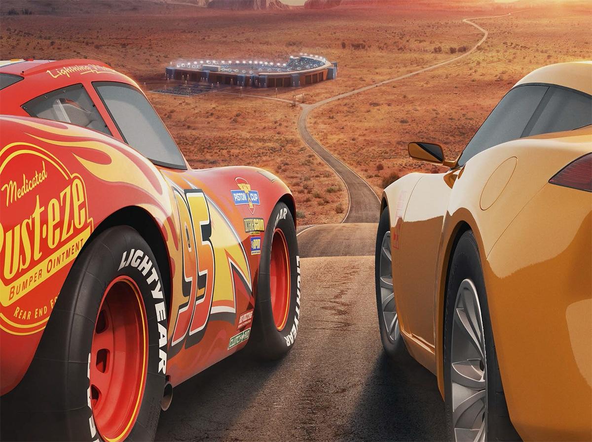 Cruz Ramirez et Flash dans Cars 3