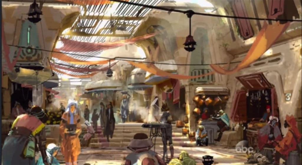 Star Wars Land Merchants Row