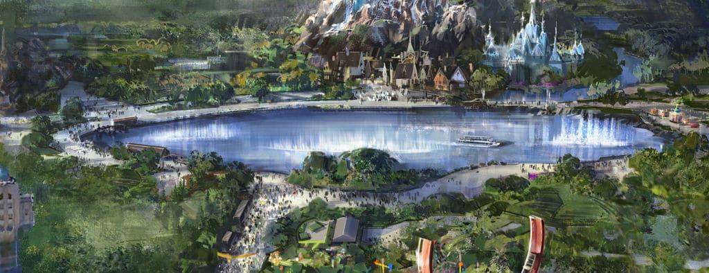 Construction d'un lac aux Walt Disney Studios