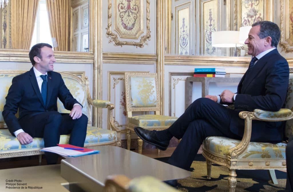 Robert Iger rencontre Emmanuel Macron