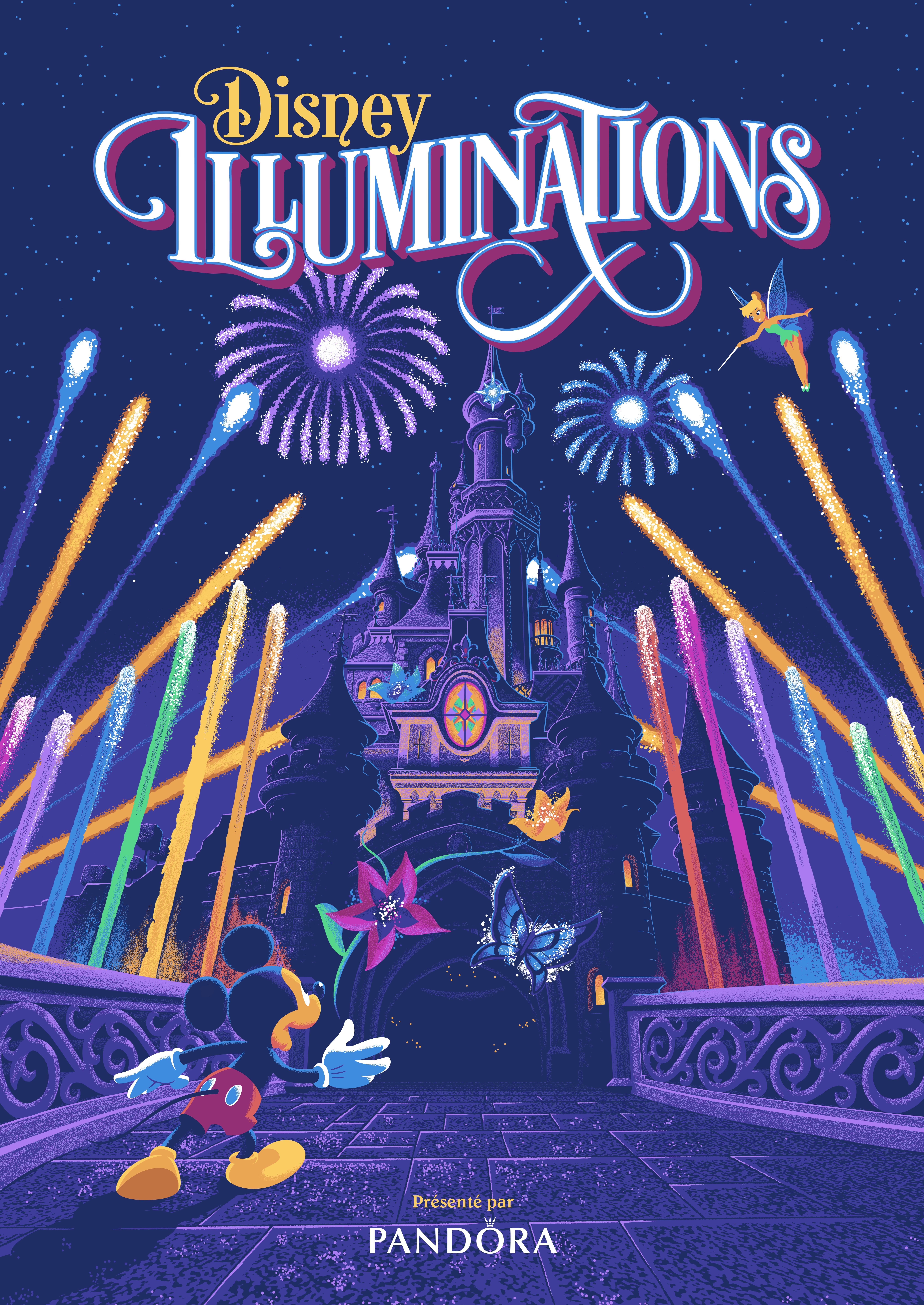 Pandora est le sponsor de Disney Illuminations à Disneyland Paris