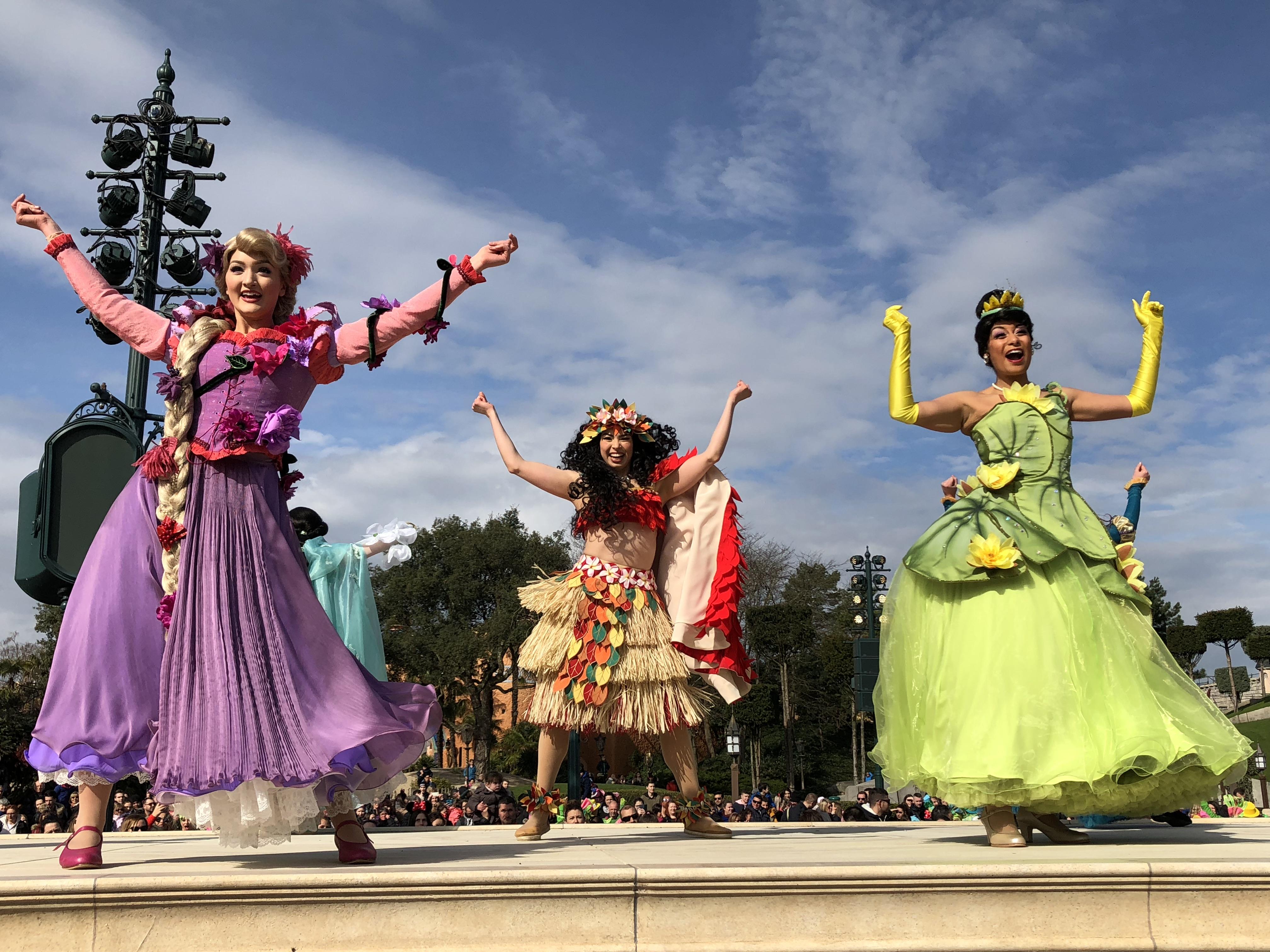 Raiponce, Taiana et Vaiana à Disneyland Paris