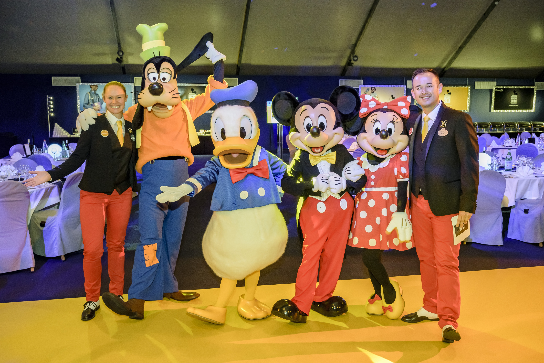 Dingo, Donald, Mickey, Minnie , Jonathan pour la soirée InsidEars