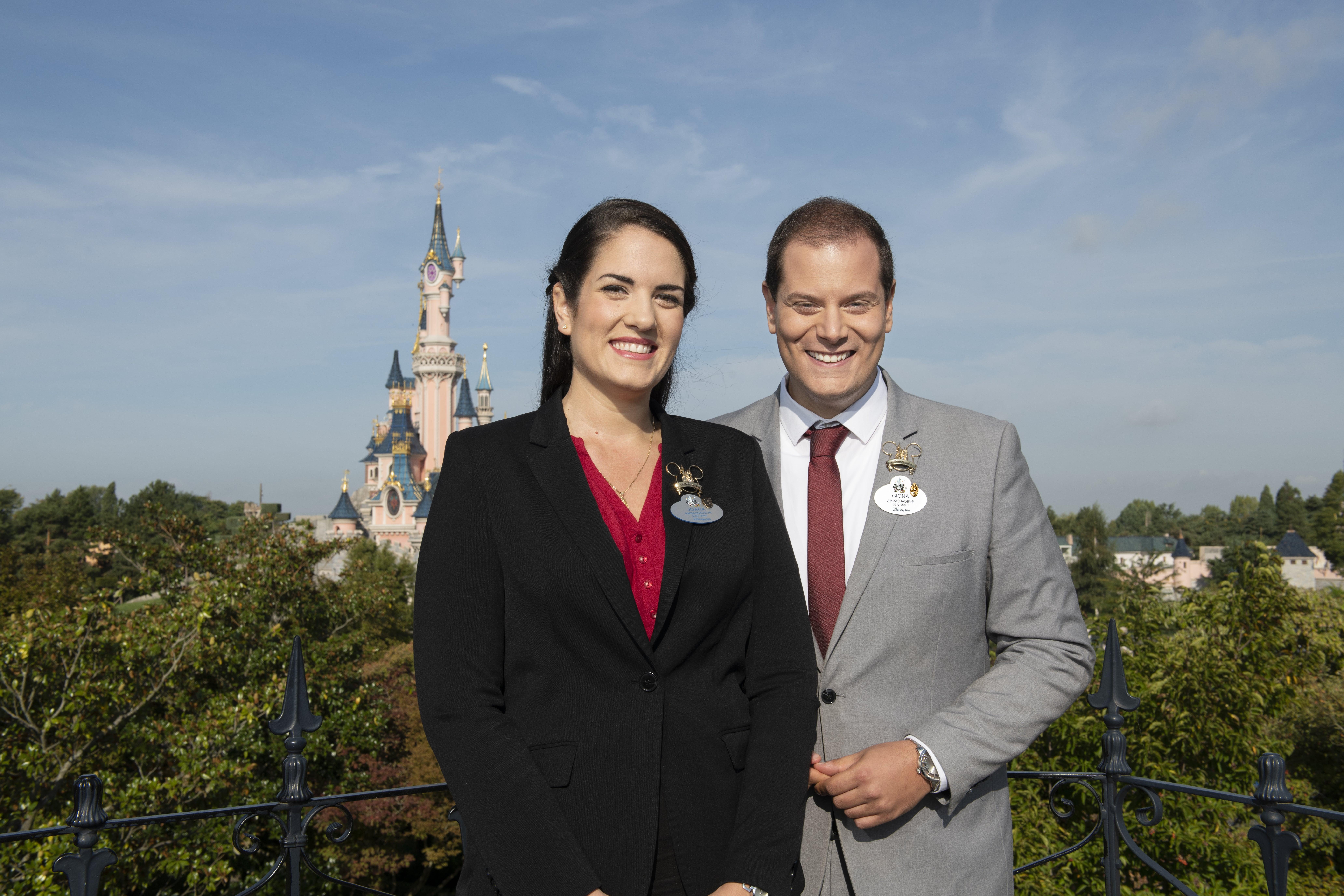 Joana Afonso Santiago et Giona Prevete, Ambassadeurs de Disneyland Paris