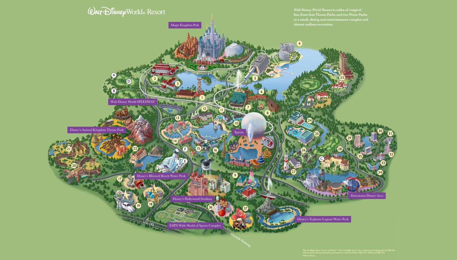 Plan de Walt Disney World