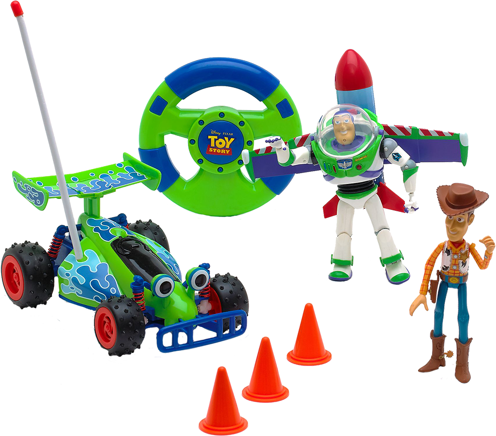 Karting, Buzz, Woody