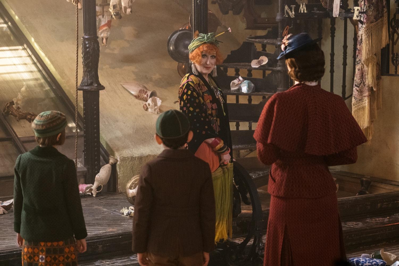 Topsy (Meryl Streep) dans Le Retour de Mary Poppins