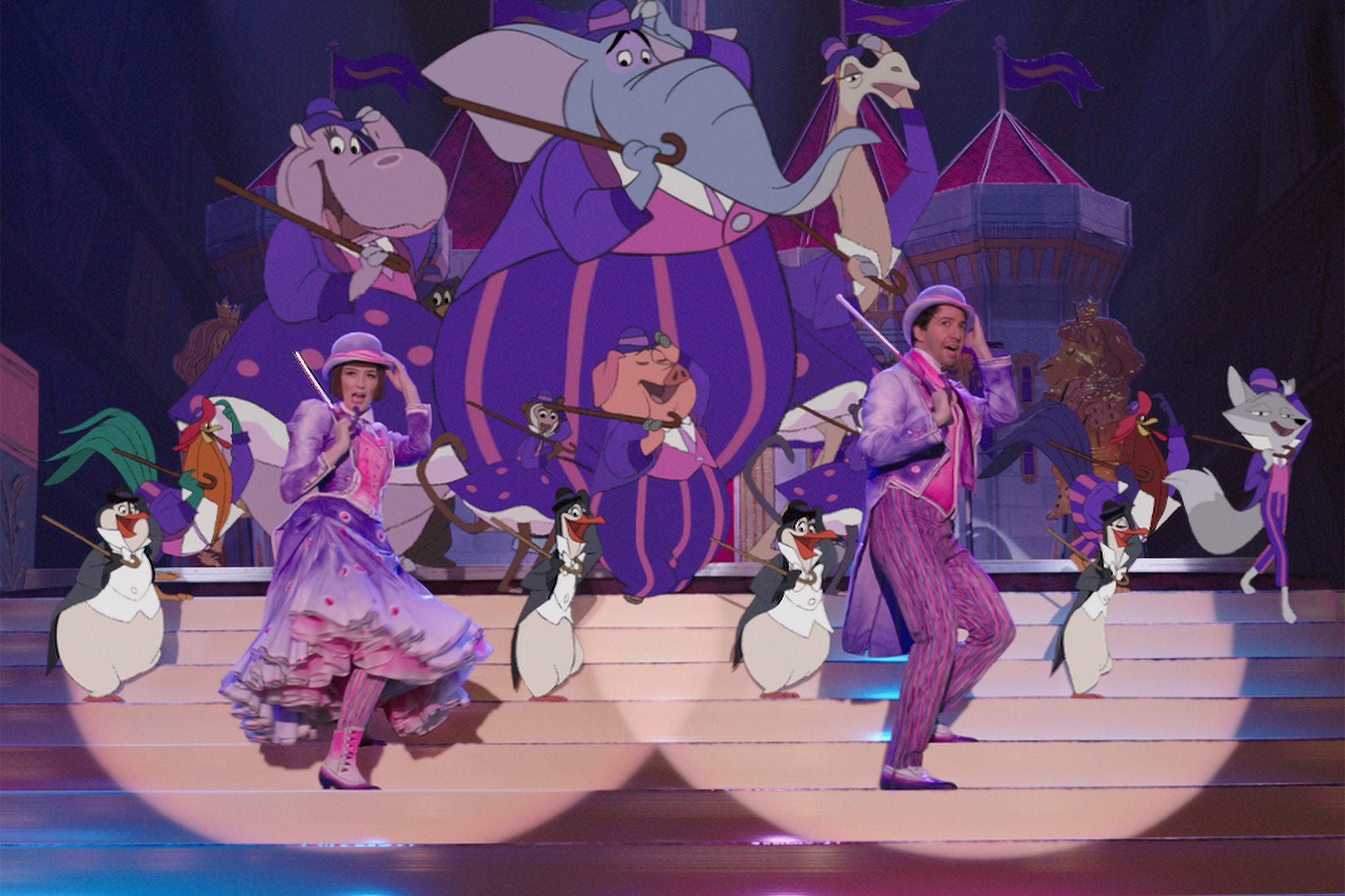 Le Retour de Mary Poppins, animation 2D : le Royal Doulton Music Hall