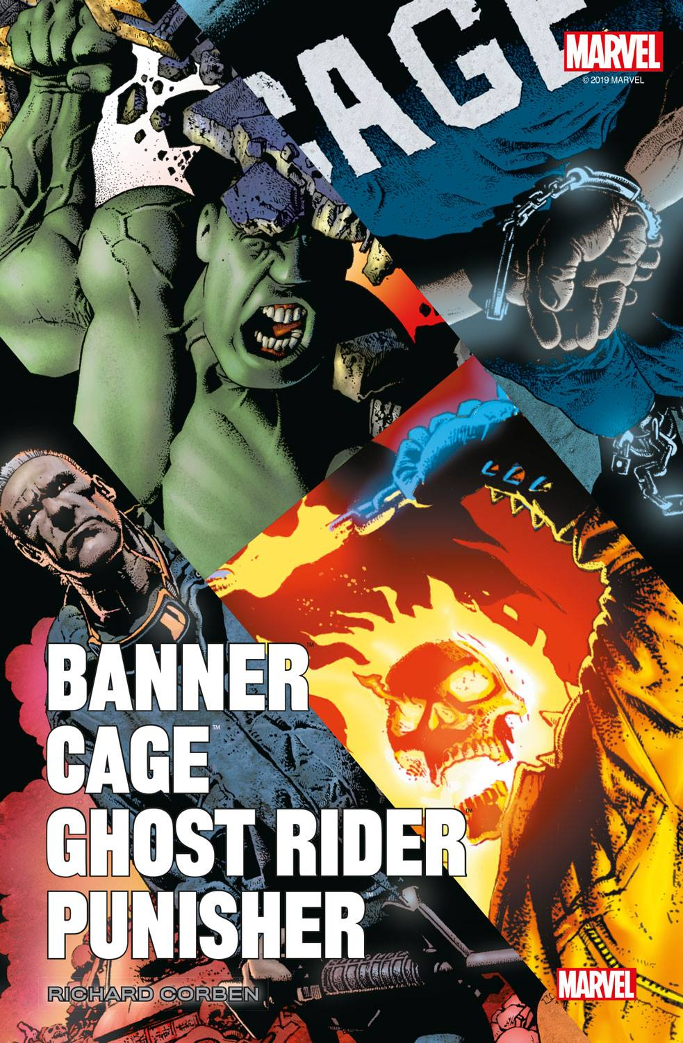 Banner/Cage/Ghost Rider/Punisher par Corben