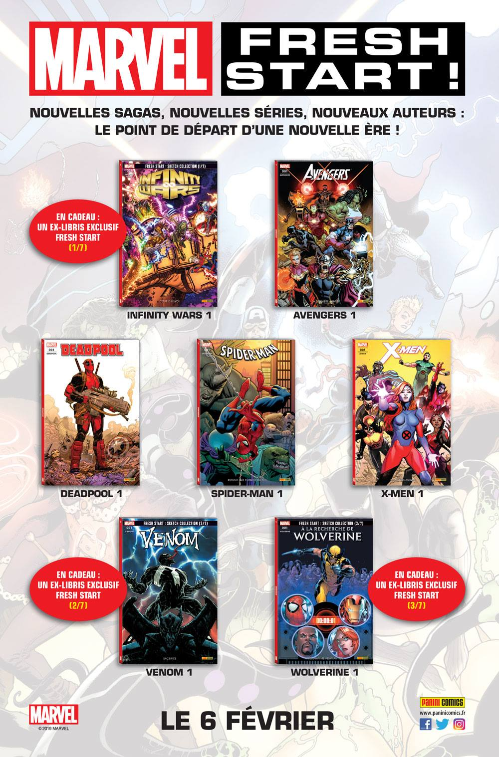 Marvel Comics, février 2019 - Fresh Start