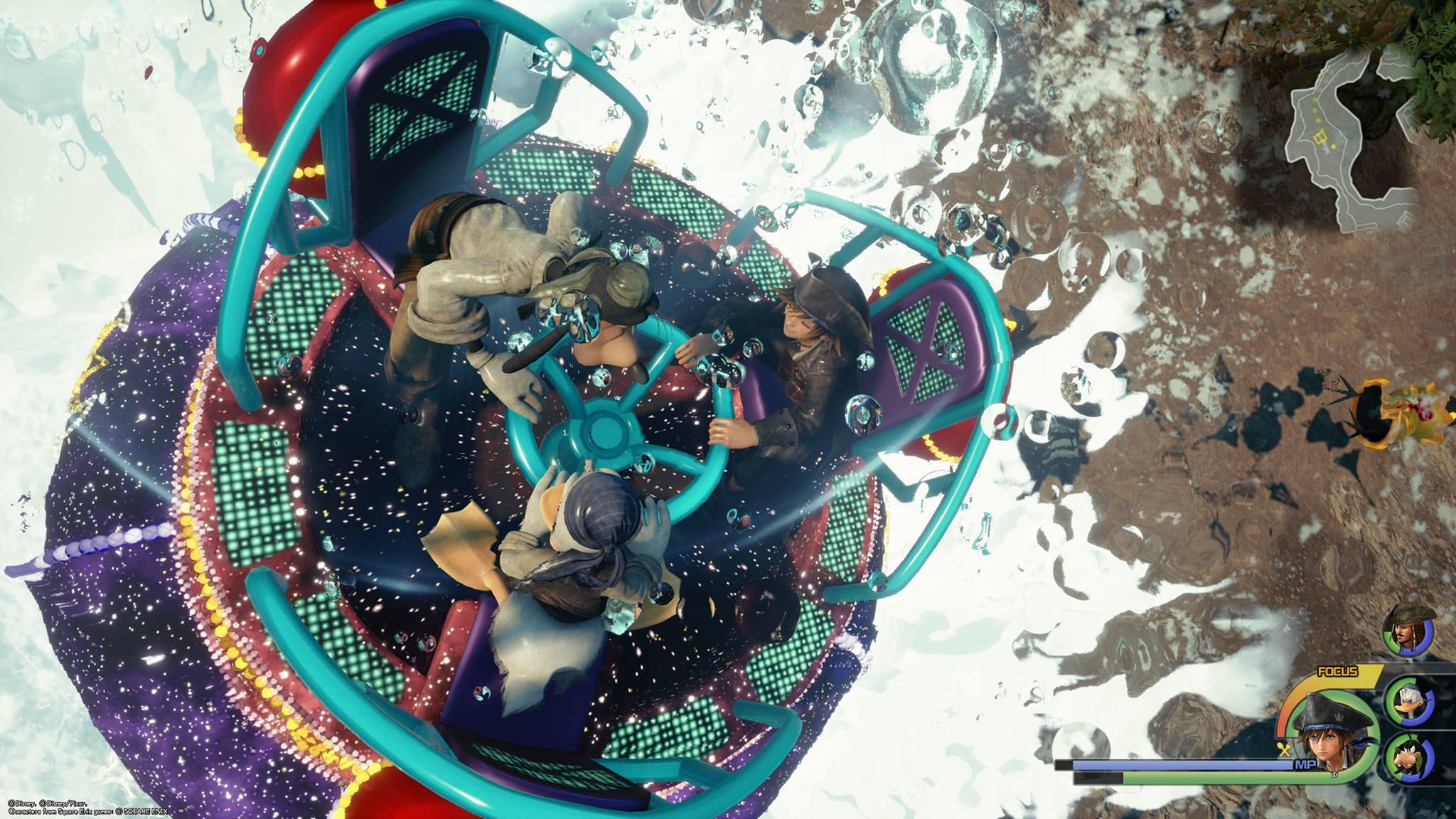 Les attractions Disney dans Kingdom Hearts