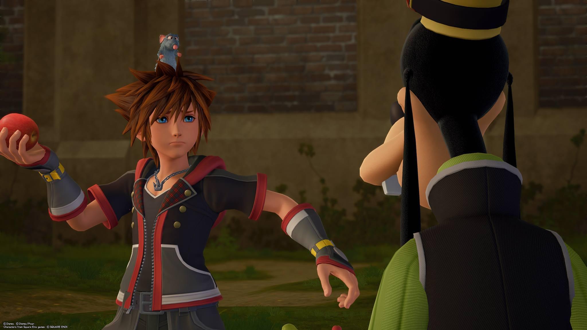 Dingo, Sora et Rémy (Ratatouille) dans Kingdom Hearts 3