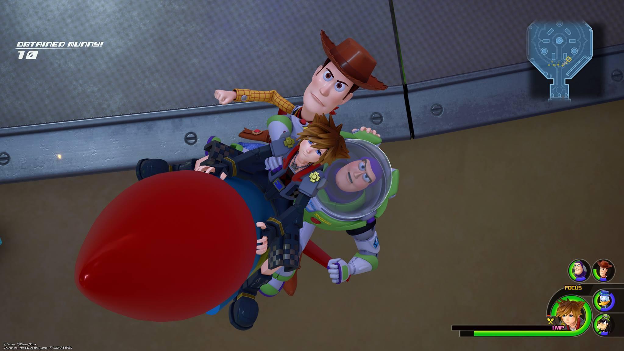 Toy Story dans Kingdom Hearts 3 avec Buzz et Woody