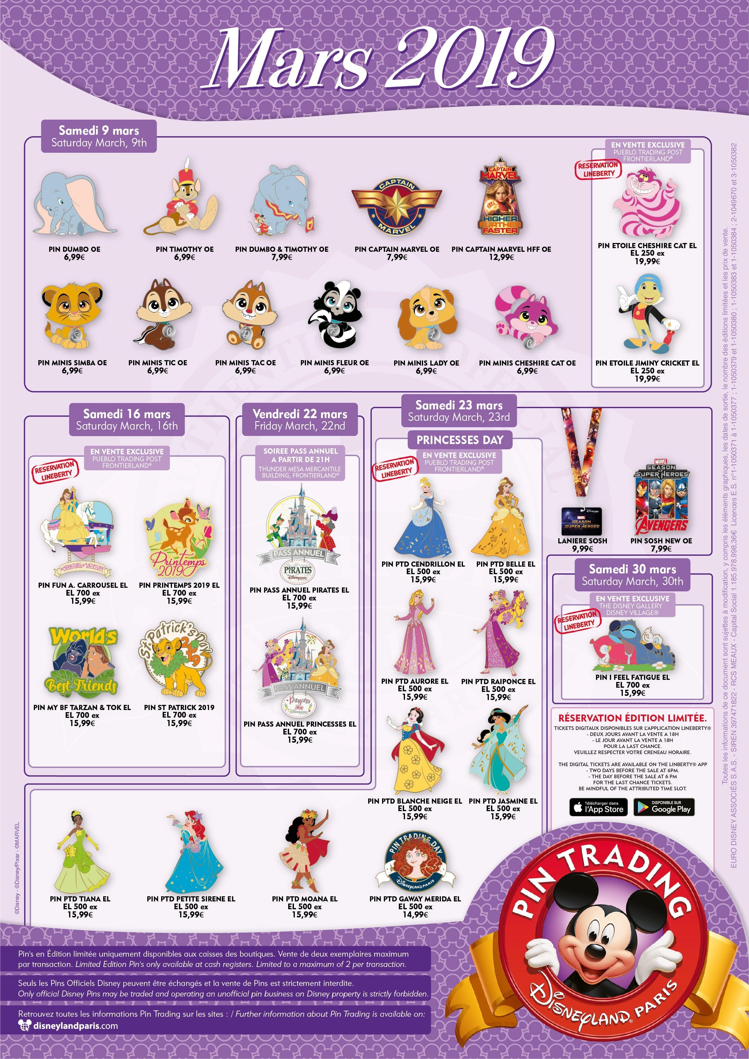 Disney Pin Trading mars 2019