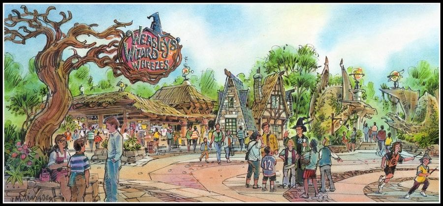 Harry Potter Land, concept à Universal
