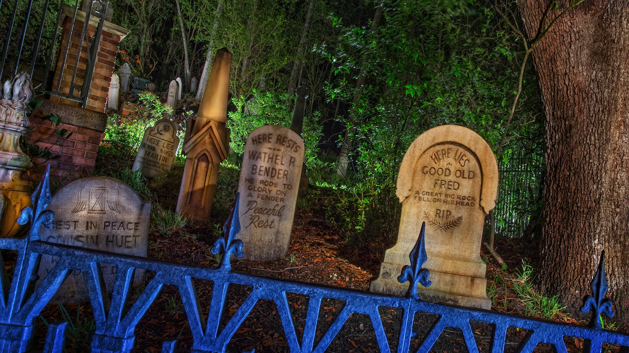 Cimetière de Haunted Mansion à Disneyland