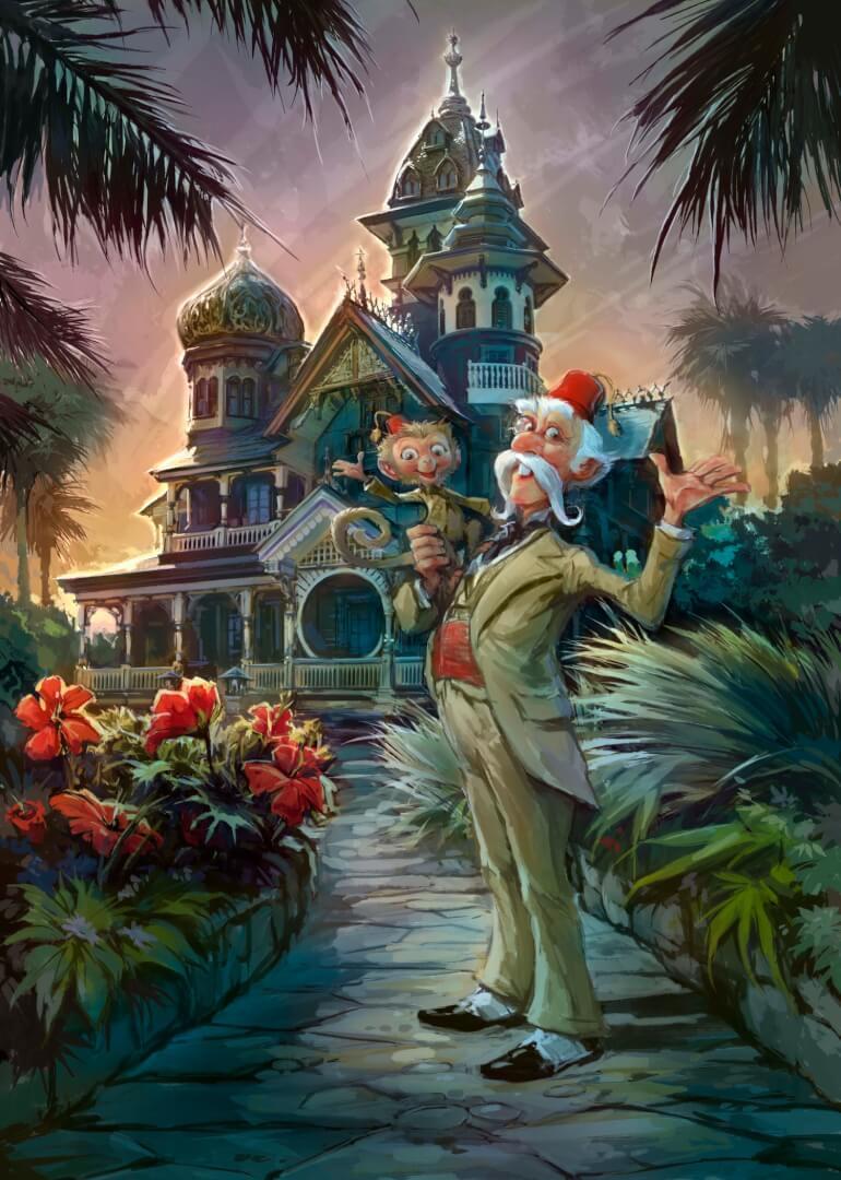 Lord Henry Mystic et Albert le Singe dans Mystic Manor