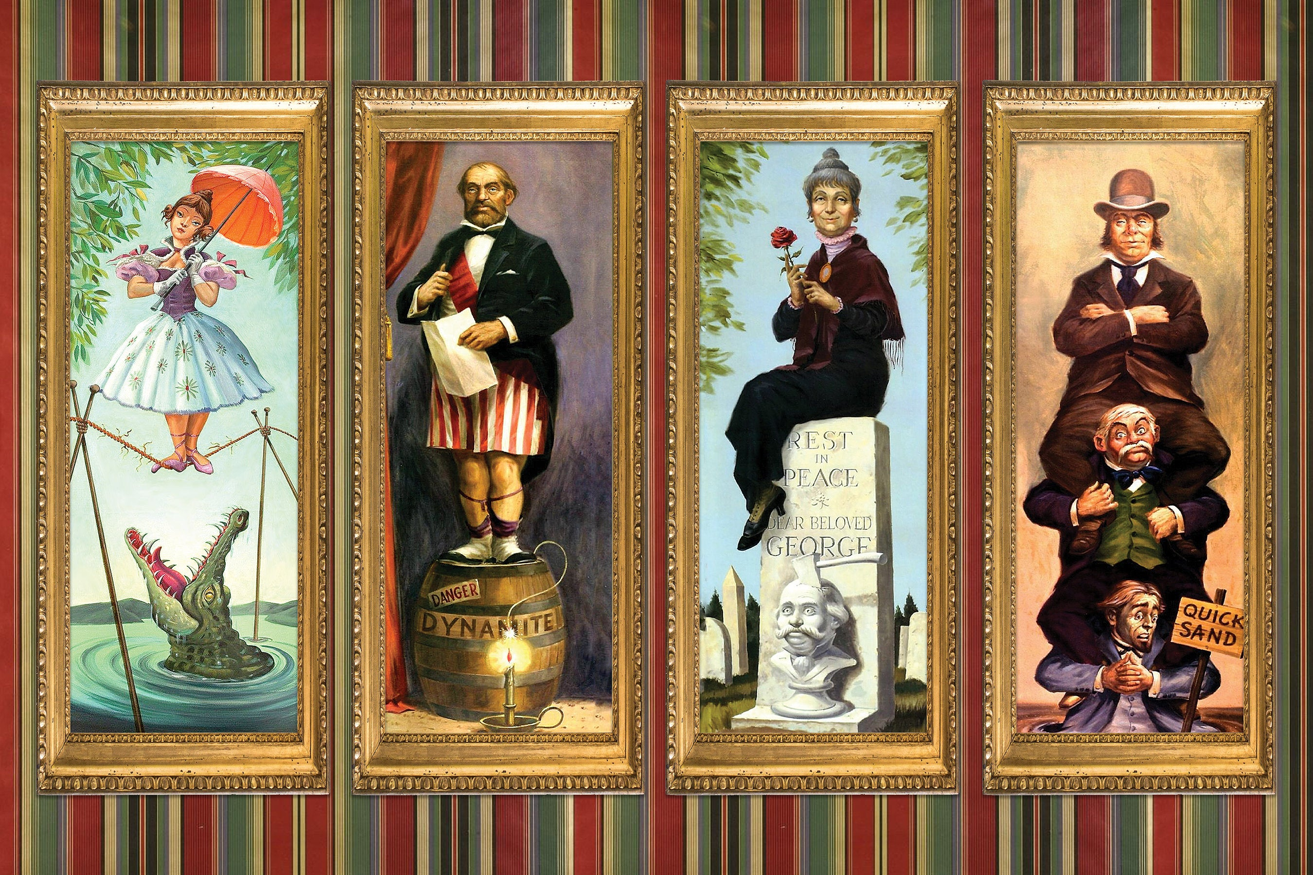 Portraits de la Stretch Room de Haunted Mansion / Source : hauntedmansion.fandom.com
