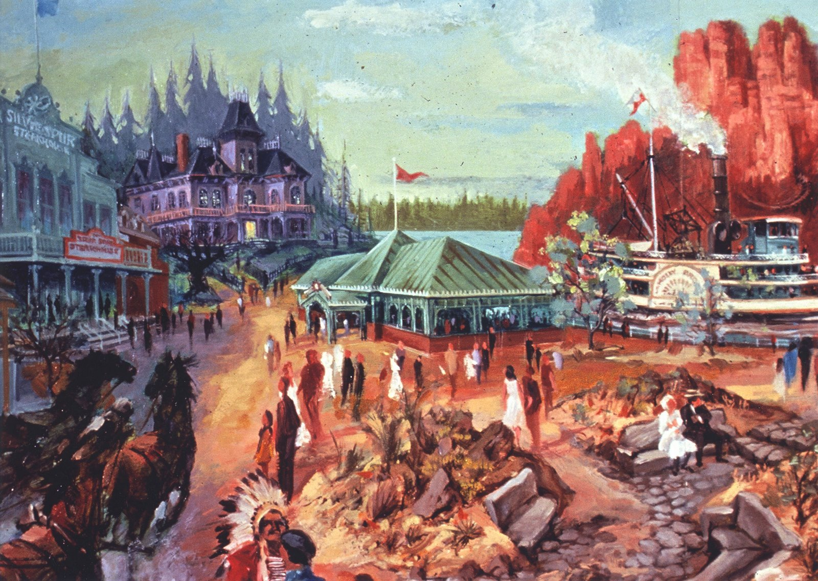 Thunder Mesa à Frontierland, Disneyland Paris, par Dan Goozeé