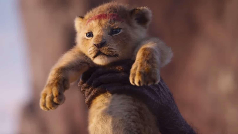 Bébé Simba dans Le Roi Lion