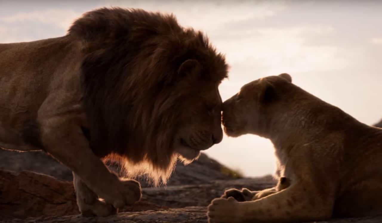 Simba et Nala dans Le Roi Lion
